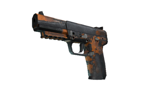 Buy Five-SeveN | Orange Peel (Battle-Scarred)