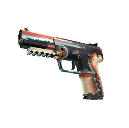 StatTrak™ Five-SeveN | Retrobution (Battle-Scarred)