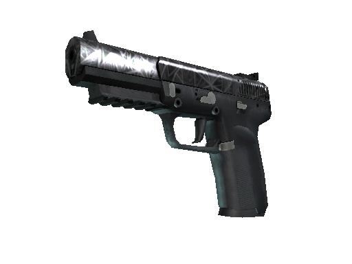 Souvenir Five-SeveN | Silver Quartz (Well-Worn)