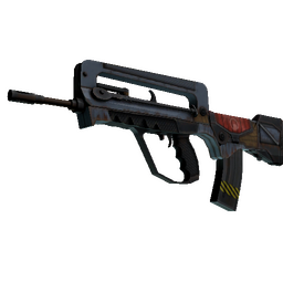 StatTrak™ FAMAS | Decommissioned (Well-Worn)