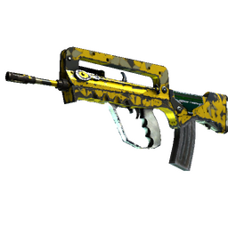 StatTrak™ FAMAS | Neural Net (Well-Worn)