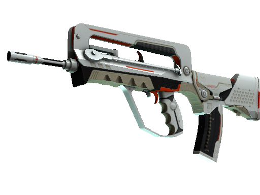 StatTrak™ FAMAS | Mecha Industries (Battle-Scarred)