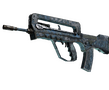 FAMAS | Cyanospatter (Battle-Scarred)