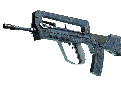 FAMAS | Cyanospatter Well-Worn