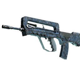 Souvenir FAMAS | Cyanospatter (Well-Worn)