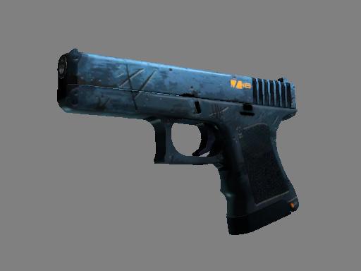 Скин StatTrak™ Glock-18 | Пришелец (Немного поношенное)