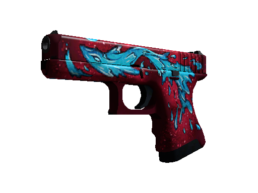 Gold Glock-18 Water Elemental