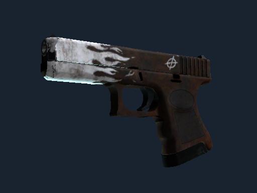 Скин StatTrak™ Glock-18 | Оксидное пламя (После полевых испытаний)