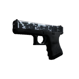 Glock-18 | Steel Disruption (Minimal Wear)