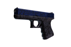 Glock 18 Blue Fissure Minimal Wear