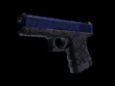 Glock-18 | Синяя трещина (Немного поношенное)