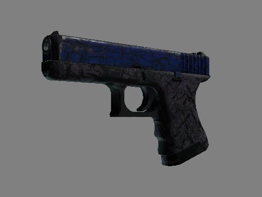 Скин StatTrak™ Glock-18 | Синяя трещина (Закаленное в боях)