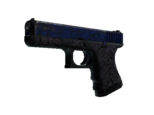 Glock-18 | Blue Fissure Battle-Scarred