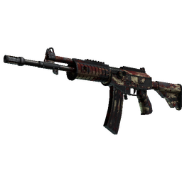 Galil AR | Crimson Tsunami (Battle-Scarred)