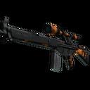 StatTrak™ G3SG1 | Orange Crash (Battle-Scarred)