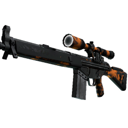 StatTrak™ G3SG1 | Orange Crash (Battle-Scarred)