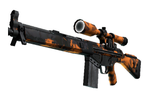 Stattrak Trade G3sg1 Orange Crash Field Tested