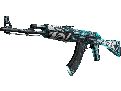 Gold AK-47 Frontside Misty