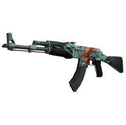 StatTrak™ AK-47 | Aquamarine Revenge (Well-Worn)