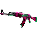StatTrak™ AK-47 | Neon Revolution <br>(Well-Worn)