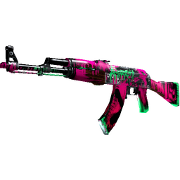 StatTrak™ AK-47 | Neon Revolution (Well-Worn)