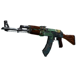 StatTrak™ AK-47 | Fire Serpent (Well-Worn)
