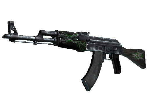 AK-47 | Szmaragdowe pręgi (po ciężkich walkach)