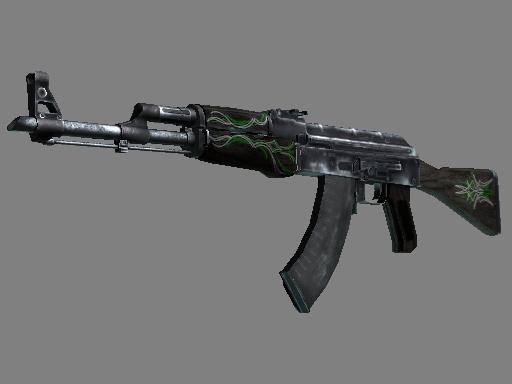 AK-47 | Emerald Pinstripe Battle-Scarred
