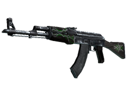 AK-47 | Emerald Pinstripe (Well-Worn) image