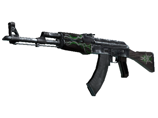 Restricted AK-47 Emerald Pinstripe