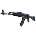 AK-47 | Blue Laminate <br>(Well-Worn)