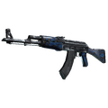 StatTrak™ AK-47 | Blue Laminate <br>(Well-Worn)