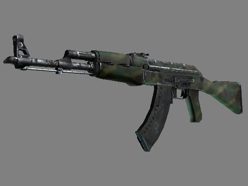 Скин AK-47 | Цвет джунглей (Закаленное в боях)