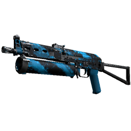 StatTrak™ PP-Bizon | Blue Streak (Well-Worn)