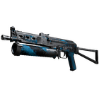 StatTrak™ PP-Bizon | Blue Streak (Battle-Scarred)