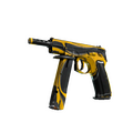 StatTrak™ CZ75-Auto | Yellow Jacket <br>(Battle-Scarred)