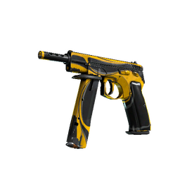 StatTrak™ CZ75-Auto | Yellow Jacket (Battle-Scarred)