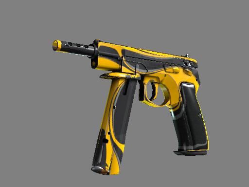 StatTrak™ CZ75-Auto | Yellow Jacket (Well-Worn)