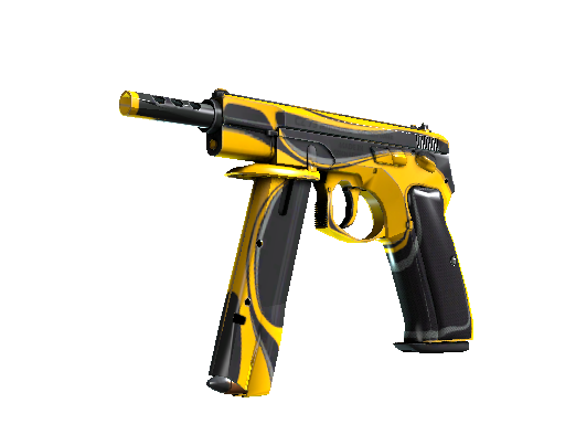 CZ75-Auto | Yellow Jacket (Battle-Scarred)