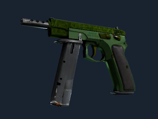 CZ75-Auto | Emerald Quartz (Battle-Scarred)