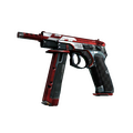 CZ75-Auto | Red Astor <br>(Well-Worn)