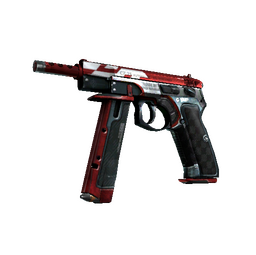 StatTrak™ CZ75-Auto | Red Astor (Well-Worn)