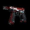 CZ75-Auto | Red Astor (Minimal Wear)