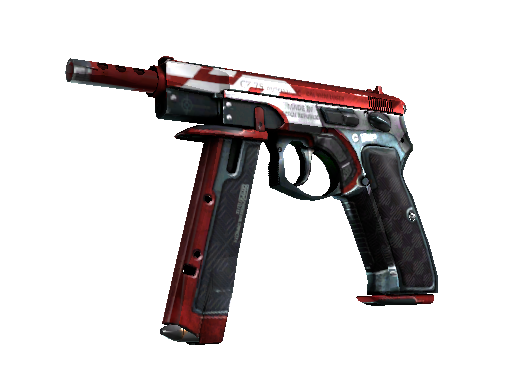 StatTrak™ CZ75-Auto | Red Astor (Battle-Scarred)