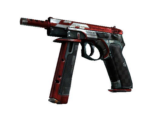 CZ75-Auto | Red Astor Battle-Scarred