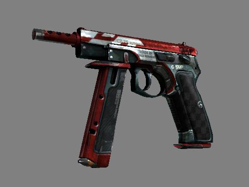 Скин CZ75-Auto | Красный ястреб (Закаленное в боях)