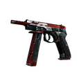 StatTrak™ CZ75-Auto | Red Astor <br>(Battle-Scarred)