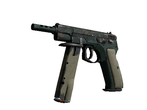 CZ75-Auto | Green Plaid Battle-Scarred