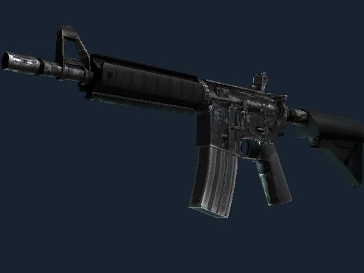 Скин M4A4 | Центральный процессор (Закаленное в боях)