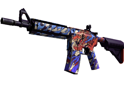 StatTrak™ M4A4 | 龍王 (Dragon King) (Battle-Scarred)